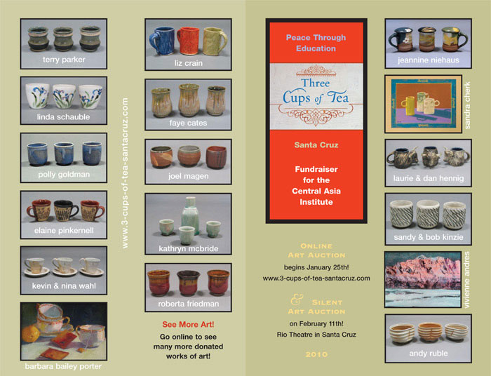 Three Cups of Tea Benefit Auction Poster