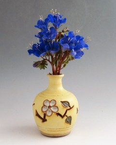 Yellow Salt Bud Vase, Stoneware