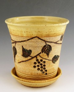 ©Terry Parker Yellow Salt Wine Chiller, Stoneware