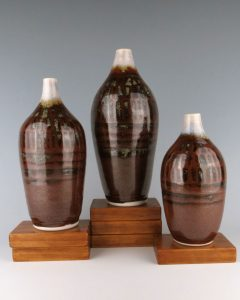 Temmoku Bottles, Porcelain, Created for DeGrazia Little Gallery Exhibit